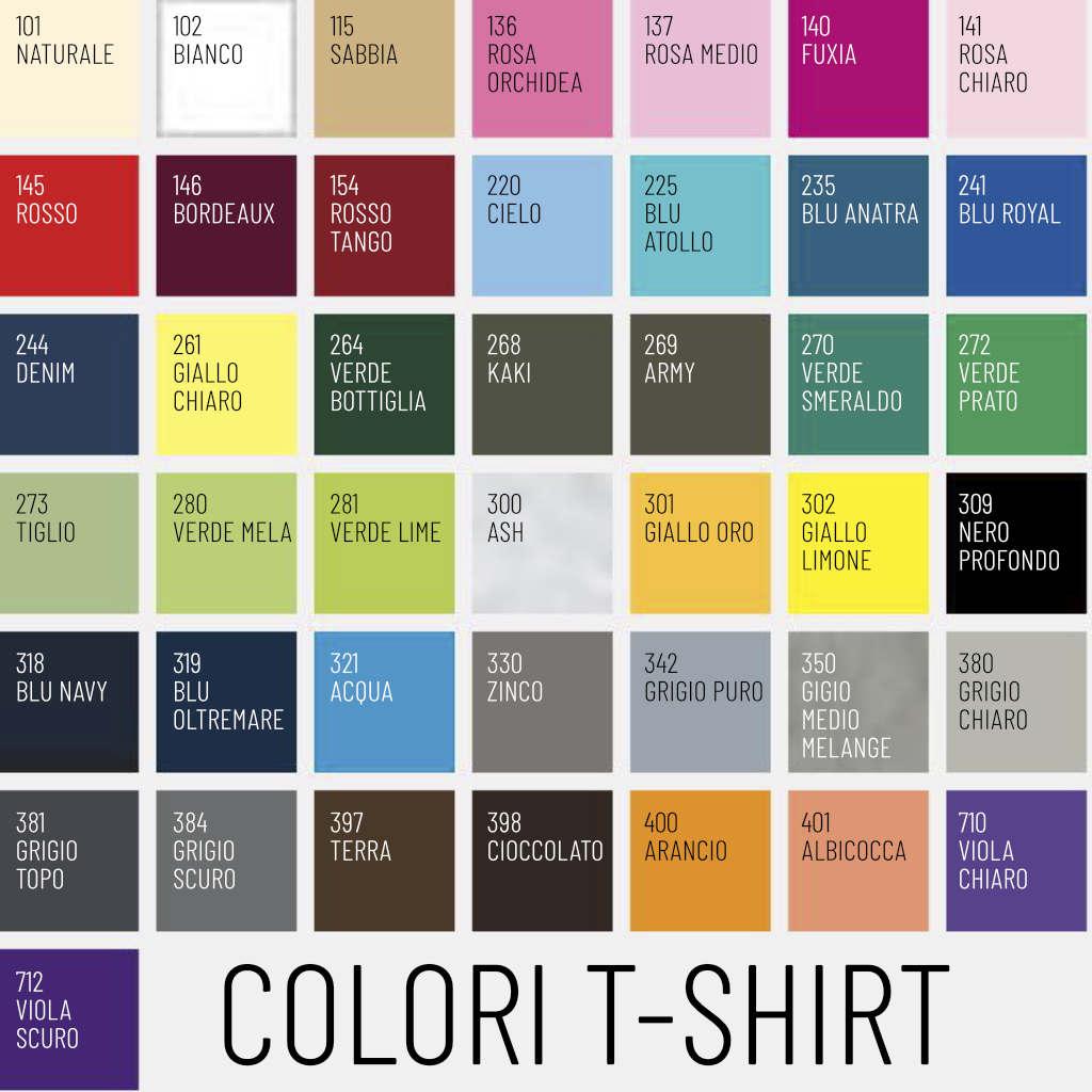 colori per magliette personalizzate